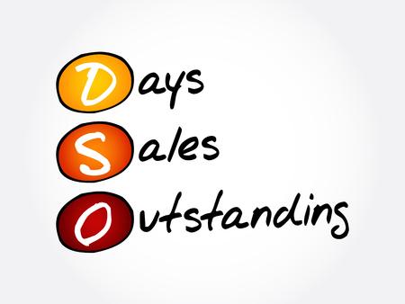 DSO - Days Sales Outstanding acronyme, fond de concept d'entreprise