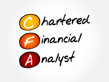 CFA – Chartered Financial Analyst acronym, business concept background