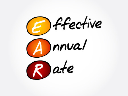 EAR - Effective Annual Rate acronym, business concept background