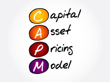 CAPM - acronyme du modèle de tarification des immobilisations, arrière-plan du concept d'entreprise