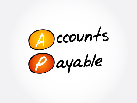 AP - Accounts Payable acronym, business concept background