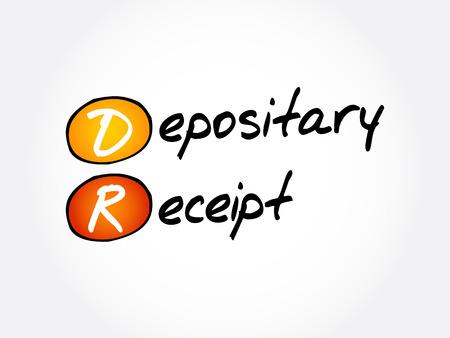 DR - Depositary Receipt acronym, business concept background