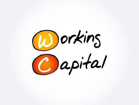 WC - Working Capital acronym, business concept background 矢量图像