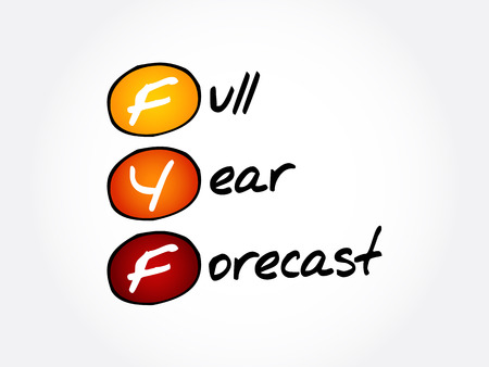 FYF - Full Year Forecast acronym, business concept background
