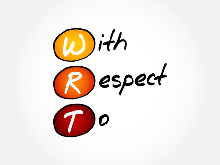 WRT - With Respect To acronym, concept background Banque d'images - 114785284