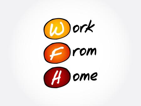 FMH - Acrónimo de trabajo desde casa, fondo del concepto empresarial Ilustración de vector