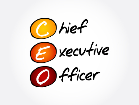 CEO – Chief executive officer acronym, business concept background Illustration