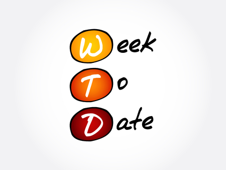 WTD - Week To Date acronym, business concept background 일러스트