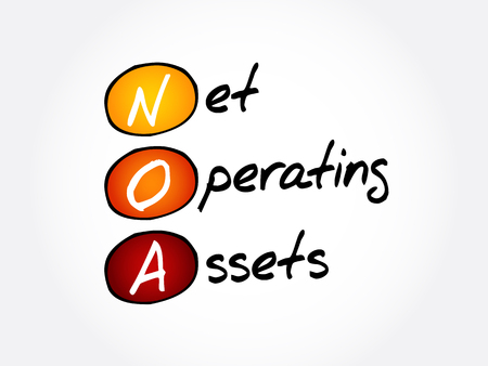 NOA - Net Operating Assets acronym, business concept background