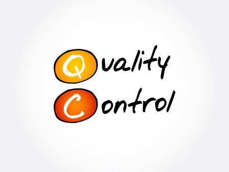 QC - Quality Control acronym, business concept background