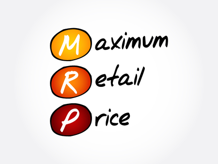 MRP - Maximum Retail Price acronym, business concept background