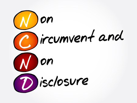 NCND - Non-Circumvent and Non-Disclosure acronym, business concept background 일러스트
