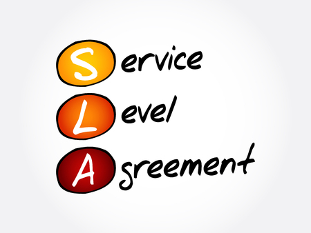 SLA - Service Level Agreement acronym, business concept background
