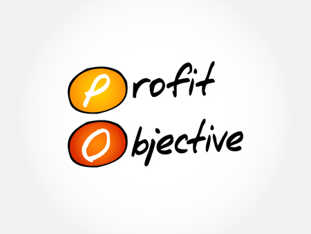 PO - Profit Objective acronym, business concept background 스톡 콘텐츠 - 114785215