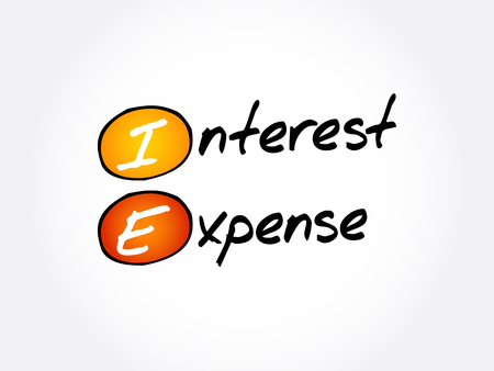 IE - Interest Expense acronym, business concept background 일러스트