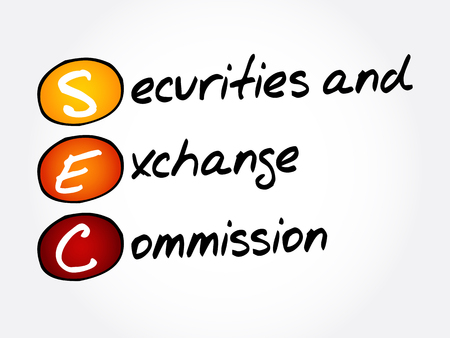 SEC - Securities and Exchange Commission acronym, business concept background