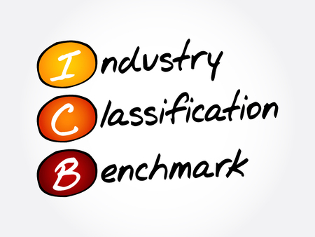 ICB - Industry Classification Benchmark acronym, technology concept 일러스트