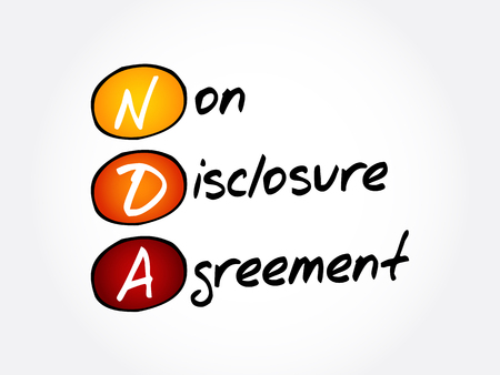 NDA - Non-Disclosure Agreement acronym, business concept background Illustration