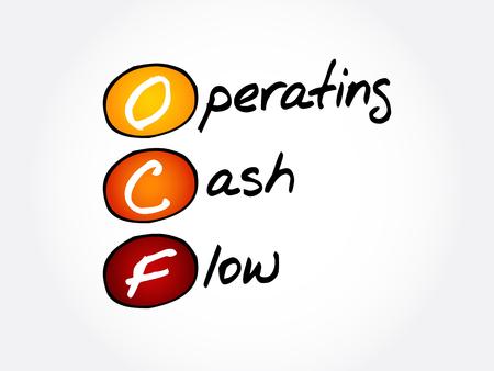 OCF - Operating Cash Flow acronym, business concept background
