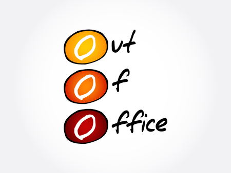 OOO - Out Of Office acronym, business concept background