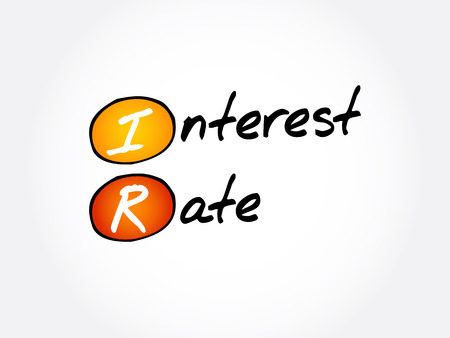 IR - Interest Rate acronym, business concept background 일러스트