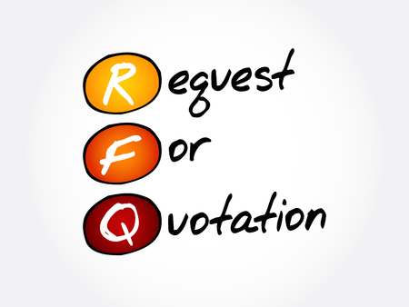 RFQ - Request For Quotation acronym, business concept background 일러스트