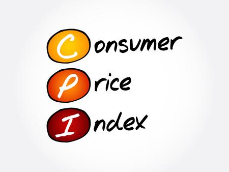 CPI - Consumer Price Index, acronym business concept