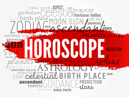 HOROSCOPE word cloud collage , concept background Stock Vector - 116211614