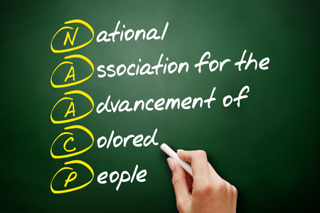 NAACP - National Association for the Advancement of Colored People acronym, concept on blackboard Imagens
