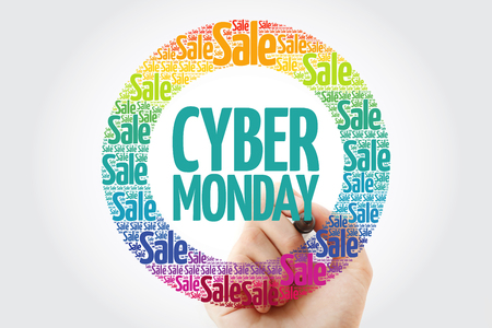 Cyber Monday words cloud with marker, business concept background 免版税图像 - 116405333
