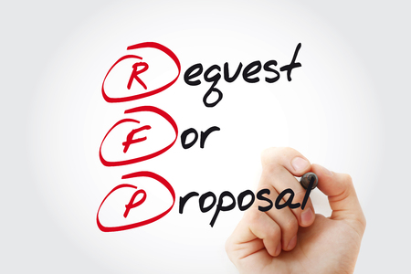 RFP - Request For Proposal with marker, acronym business concept