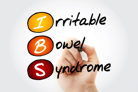 IBS - Irritable Bowel Syndrome, acronym health concept background 版權商用圖片