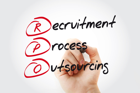 Hand writing RPO - Recruitment Process Outsourcing with marker, acronym business concept