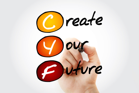 CYF - Create Your Future, acronym concept background