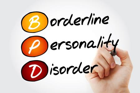 BPD - Borderline Personality Disorder, acronym health concept background Stock Photo