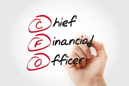 Hand writing CFO - Chief Financial Officer with marker, acronym business concept