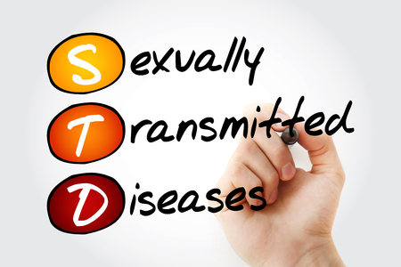 STD - Sexually Transmitted Diseases, acronym health concept background