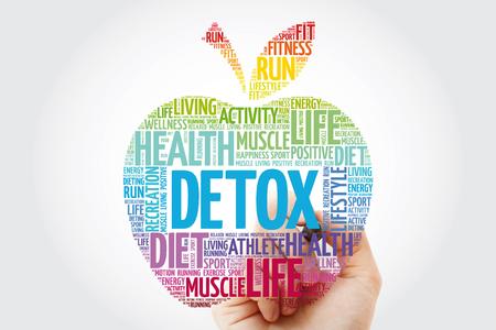 DETOX apple word cloud with marker, health concept background Reklamní fotografie
