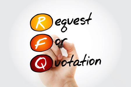 RFQ - Request For Quotation acronym with marker, business concept background Stock Photo