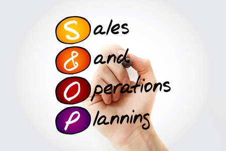 S&OP - Sales and Operations Planning acronym with marker, business concept background