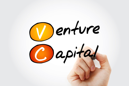 VC - Venture Capital acronym with marker, business concept background