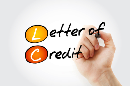 LC -  Letter of Credit acronym with marker, business concept background Banque d'images