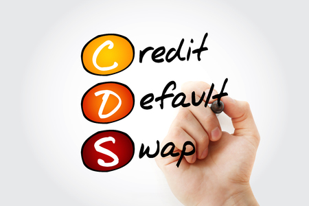 CDS – Credit Default Swap acronym with marker, business concept background