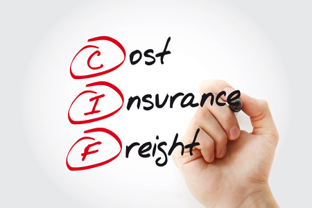 Hand writing CIF - Cost Insurance Freight with marker, acronym business concept Banque d'images - 116501299