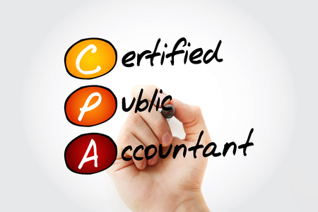 CPA - Certified Public Accountant acronym with marker, business concept background Фото со стока - 116501392