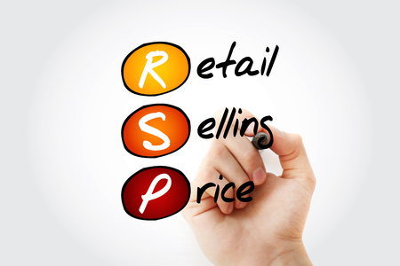 RSP - Retail Selling Price acronym with marker, business concept background Stock Photo