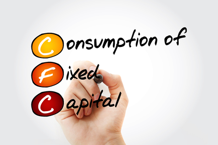 CFC – Consumption of fixed capital acronym with marker, business concept background