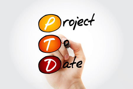 PTD - Project To Date acronym with marker, business concept background Reklamní fotografie