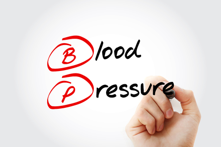 BP - Blood Pressure acronym with marker, concept background Stock fotó