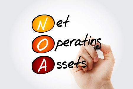 NOA - Net Operating Assets acronym with marker, business concept background